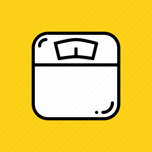 fitness, gym, measure, monitor, scale, weighing, weight icon