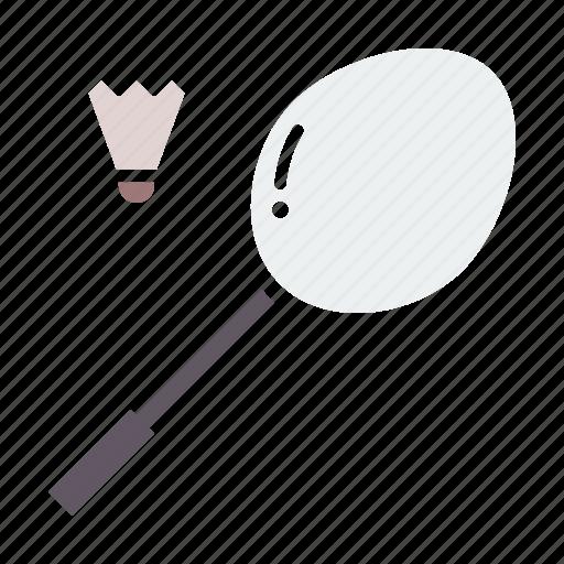 badminton, cock, game, racket, racquet, shuttle, sports icon