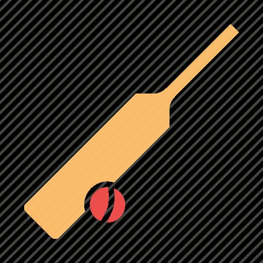 ball, bat, cricket, equipment, game, play, sports icon