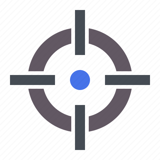 aim, crosshair, goal, hit, shoot, shooting, target icon