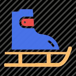 ice skating, shoes, skate, skateboard, skating, winter games icon