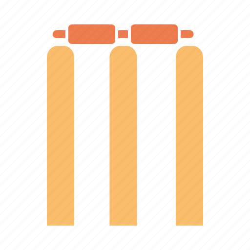 bails, cricket, out, play, sports, stumps, wicket icon