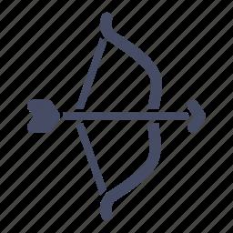 archery, arrow, bow, hunt, olympics, target, weapon icon