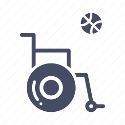 basketball, disabled, games, handicapped, paralympic, paralympics, wheelchair icon