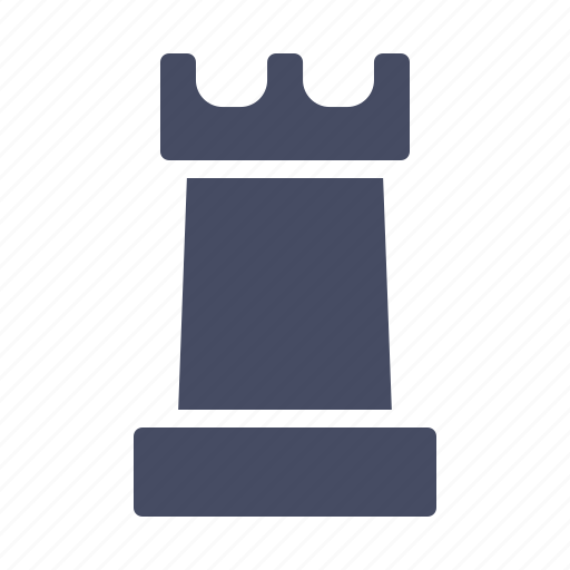 chess, game, piece, play, rook, strategy icon