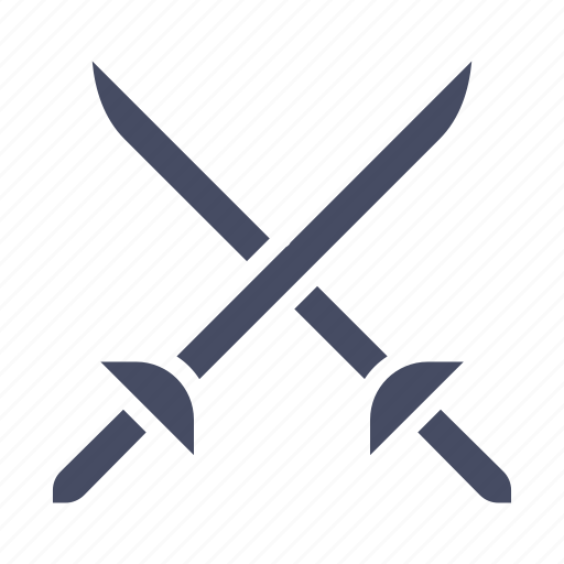 ammunition, cross swords, fight, fighting, sword, weapon icon