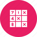 game, leisure, logic, math, puzzle, riddle, sudoku icon