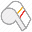 referee, sports, sports alarm, whistle icon