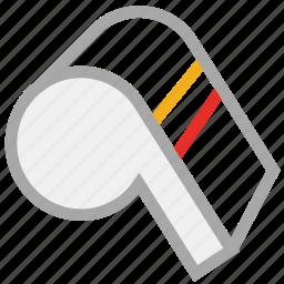 referee, sports, sports alarm, whistle icon