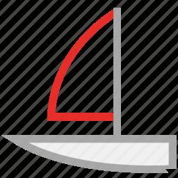 boat, sailboat, watercraft, yacht icon