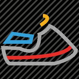 jet boating, jetski, water scooter, water sports icon