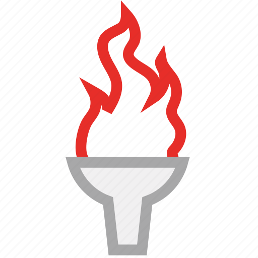 fire, olympic, olympic torch, sports icon