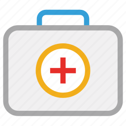 first aid bag, first aid kit, healthcare, medicines icon
