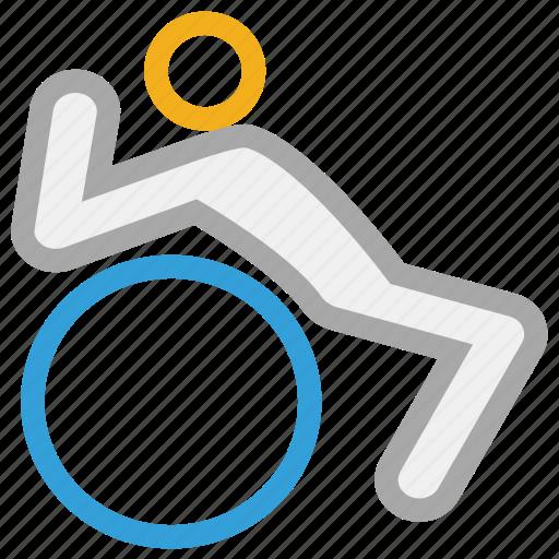 exercise, sports, sportsman, training icon