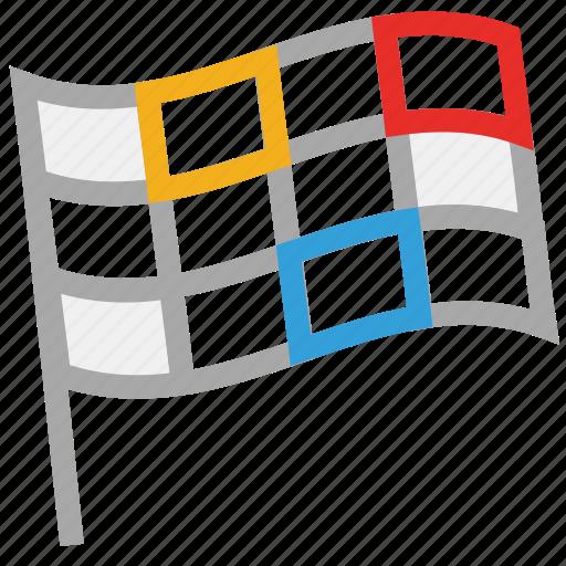 flag, games, sports flag, start of sports icon