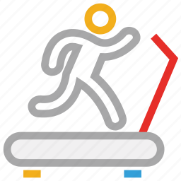exercise, gym, training, treadmill icon