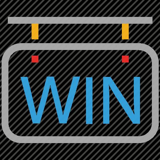 info, information, win, wining board icon