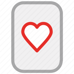 casino elements, gambling, heart, playing cards icon