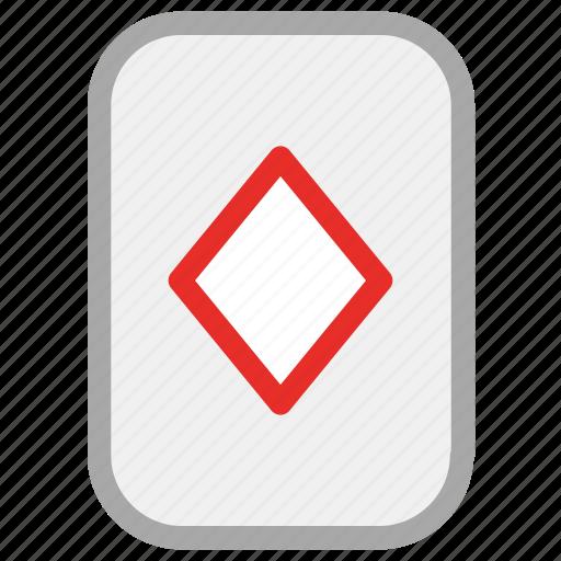 casino, diamond, game, playing cards icon