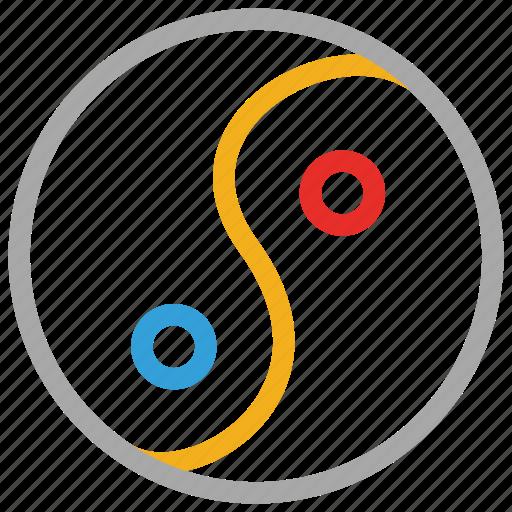 sign, yang, yin, yinyang icon