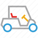 electric car, golf car, golf cart, vehicle icon