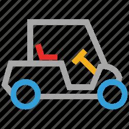 electric car, golf car, golf cart, vehicle icon
