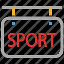 info, information, signboard, sports board icon