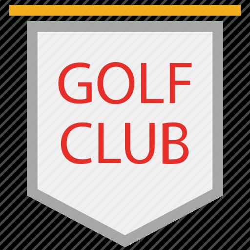 game, golf club, information, sports icon