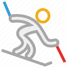ski, skiing, sports, winter icon