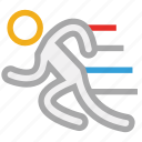 exercise, man, runner, running fast icon