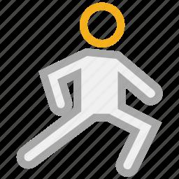 athlete, exercise, sportsman, training icon