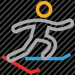 fitness, ski, skiing, sports icon