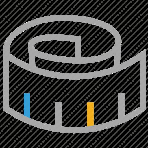 inches-tape, measure, measurement, measuring tap icon