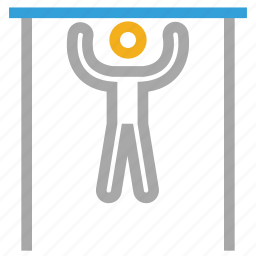 exercise, exercising, fitness, pulling up icon