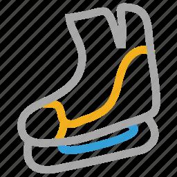 ice skate boot, ice skates, ice skating, sports icon