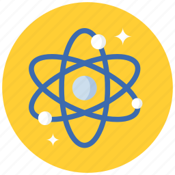 atom, atomic, nuclear, radioactive, research, science icon