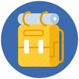 backpack, camping, travel icon
