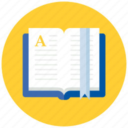 book, bookmark, education, open icon