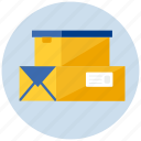 boxes, package, packets, parcel, shipping icon