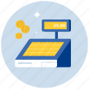 cash, ecommerce, finance, money, payment, register, shopping icon