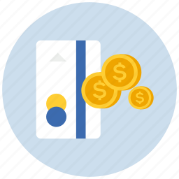 card, coins, credit, ecommerce, finance, money, payment, shopping icon