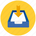 documents, drawer, files, input, papers icon