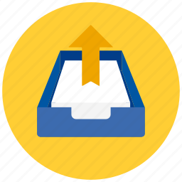 documents, drawer, files, output, paper, papers icon