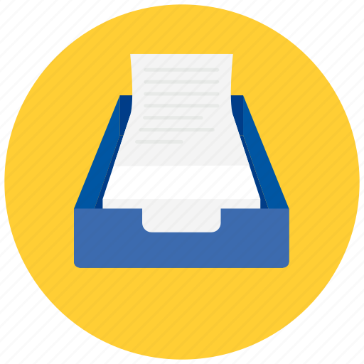 document, documents, drawer, out, paper, text icon