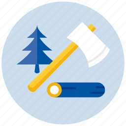 axe, eco, ecology, environment, forest, nature, tree icon