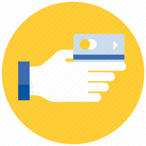 business, card, credit, ecommerce, finance, financial, hand, payment, shopping icon
