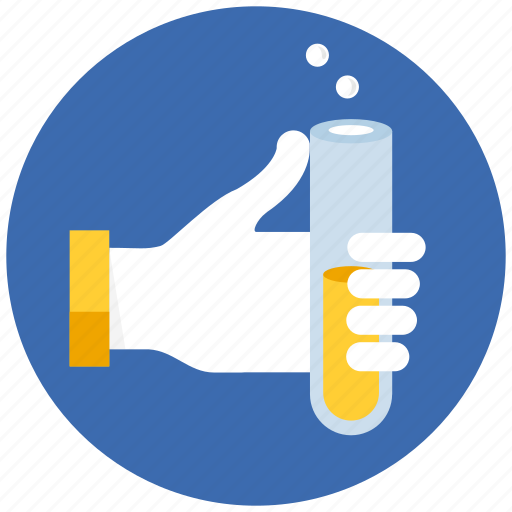 chemistry, experiment, flask, hand, lab, laboratory, research, science, substance icon