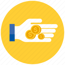 cash, coin, coins, currency, dollar, ecommerce, finance, financial, hand, money, payment, shopping, strached icon