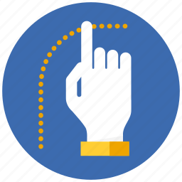 finger, fingers, gesture, hand, touch icon