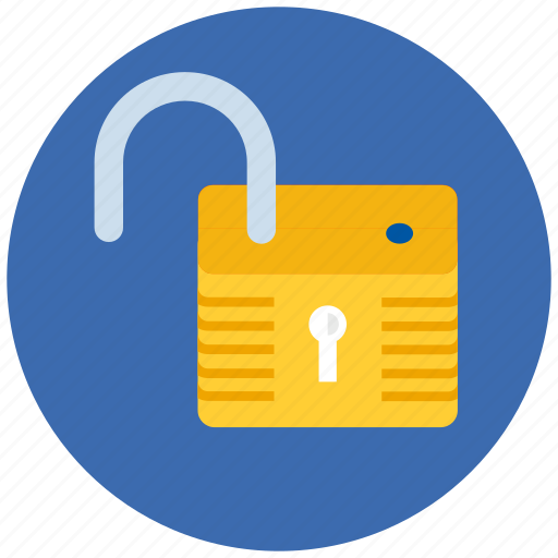 lock, protect, protection, safe, security, unlocked icon